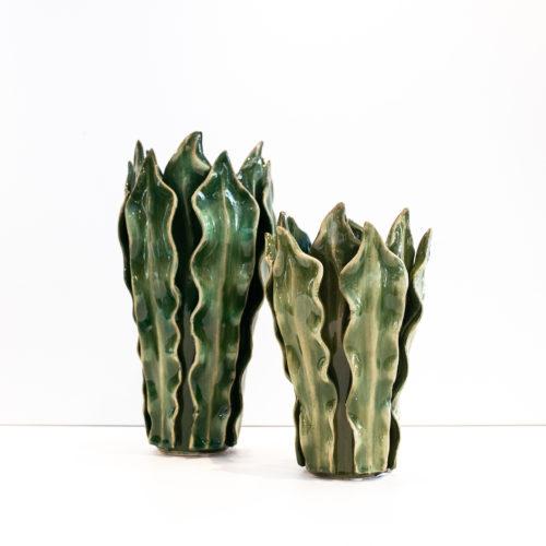 Grønn bladvase